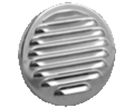 Schoepenroosters/Alu opgeronde boord/rond