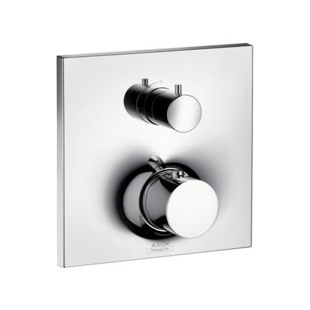 Axor - Massaud - set de finition - thermostatique encastré - avec robinet d'arrêt