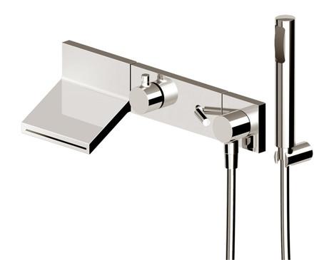 Zucchetti - Pan - set de finition - mitigeur bain/douche - avec garniture douche