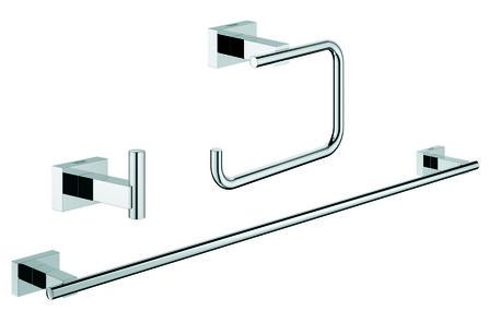 Grohe - Essentials Cube - set accessoires 3-en-1 - pour la salle de bains d'amis