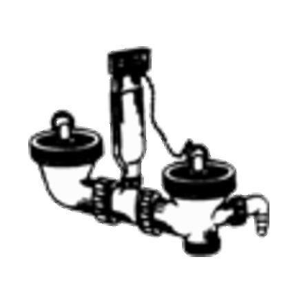 Franke - crépine 6/4 - 2 bassins - avec trop-pein