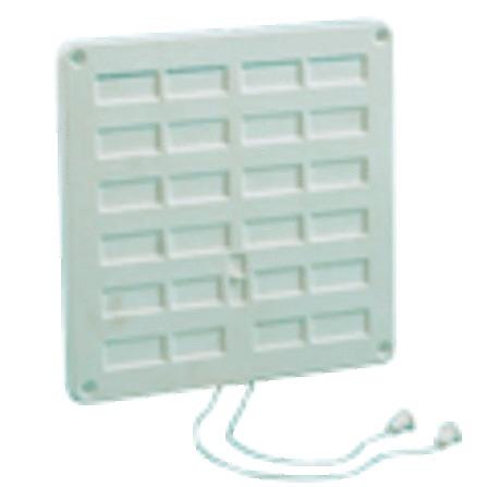 Afsluitbaar ventilatierooster PVC+koord+insectennet