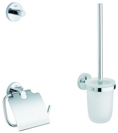 Grohe - Essentials - set accessoires 3-en-1 - pour toilettes publiques