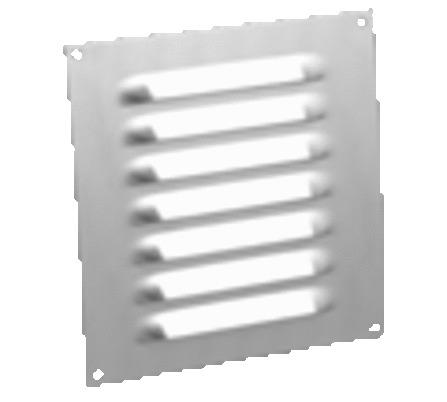 Grilles de ventilation en ALU avec bord plat
