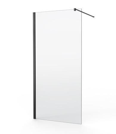 Van Marcke Origine - Walk-in - paroi fixe - verre transparant - profil noir