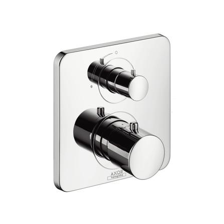 Axor - Citterio M - set de finition - thermostat à encastré - avec robinet d'arrêt