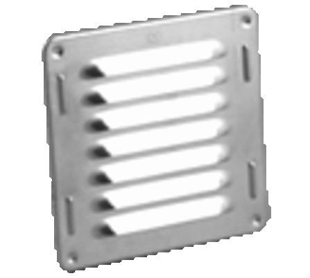 Schoepenroosters/Alu opgeronde boord/vierkant