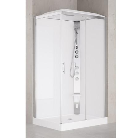 Van Marcke Origine - Vidrio Hammam - Vidrio Hamam - droite - rectangulaire - avec porte coulissante et paroi fixe