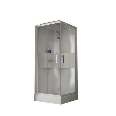 Van Marcke Origine - Lilou - Lilou Hamam - carré - accès d'angle avec portes coulissantes