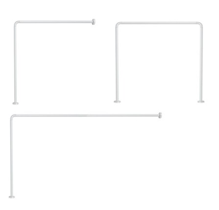 Gedy - porte-rideau angle - blanc