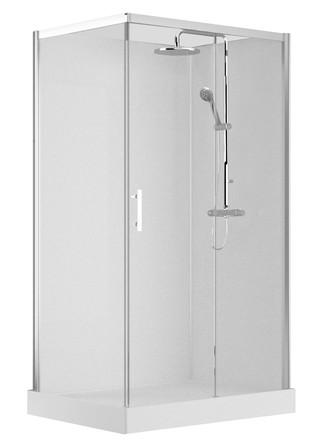Van Marcke Origine - Vidrio - 120x90 - droite - avec porte coulissante