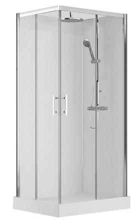 Van Marcke Origine - Vidrio - 100x80 - droite - avec portes coulissantes