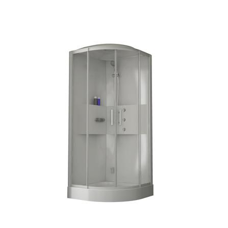 Van Marcke Origine - Lilou - Lilou hamam - quart de rond - accès d'angle avec portes coulissantes
