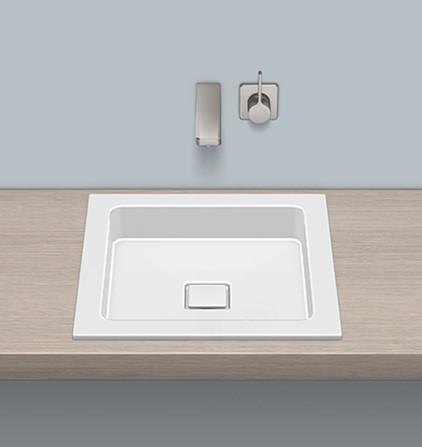 Alape - lavabo à encastrer - 45x45 cm - sans trou robinet