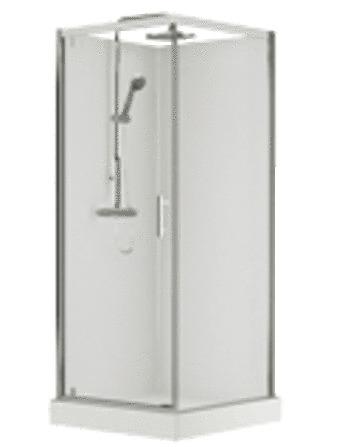Van Marcke Origine - Vidrio - 90x90 - avec porte pivotante