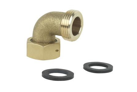 Altus - Raccord 2 pièces coude pour compteur d'eau - EM (2 joints) - F x M