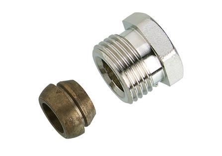 """Decotivo - raccord 1/2"""" - pour tube cuivre - pour les jeux de robinetterie design"""