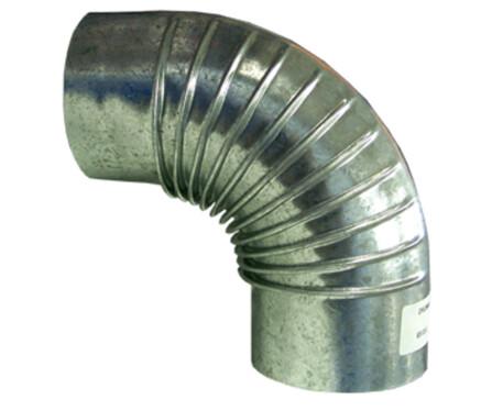 Opsinox - Galva - coude plissé - 90°