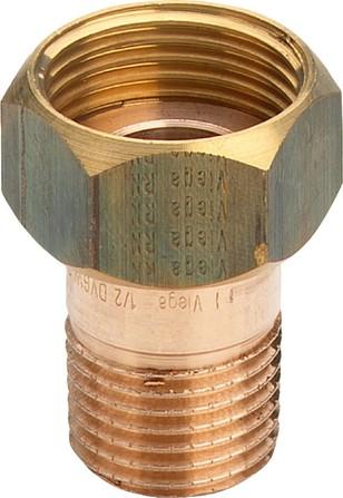 Viega - aansluitkoppeling - brons - plat