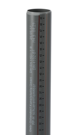 Ostendorf Kunststoffe - HT-Safe - PP - tube d'évacuation sans manchon 5m