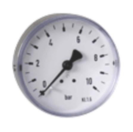 "Euro-Index - manomètre à tube bourdon - raccordement axial - D 1/4"""