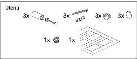 Van Marcke Origine - Kit de fixation Ofena
