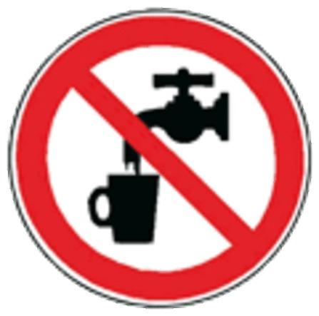 Van Marcke Pro - Autocollant 'eau non potable'