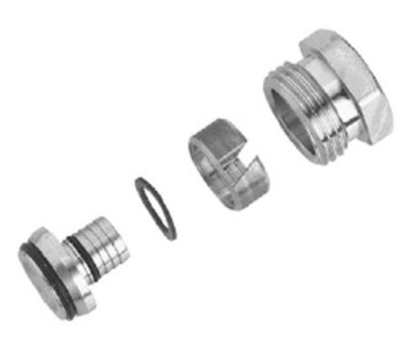 """Decotivo - raccord 1/2"""" - pour tube Pex-ALU - pour les jeux de robinetterie design"""