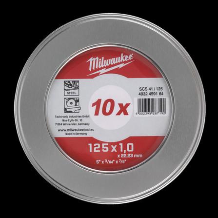 Milwaukee - CUTW SCS 41/125 - disque à tronçonner pour métaux box métal 10 pièces