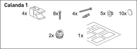 Van Marcke Origine - Kit de fixation pour Calanda 1 (simple)