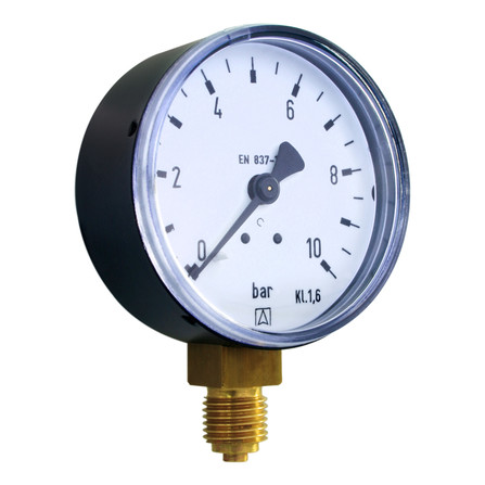 "Euro-Index - manomètre à tube bourdon - raccordement radial - D 1/4"""