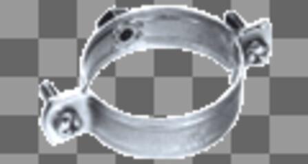 Rofix - Rookafvoerbuisbeugels verzinkt M8