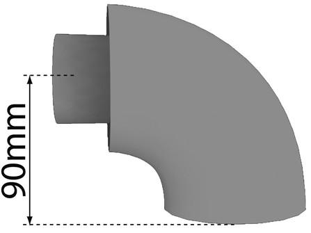 Bulex - rookafvoer - conc. bocht 60/100 90°