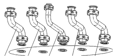 Bulex - set tubulures en cuivre
