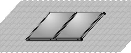Wolf - Solar - Set de montage (vertical) sur toiture pour 2 capteurs