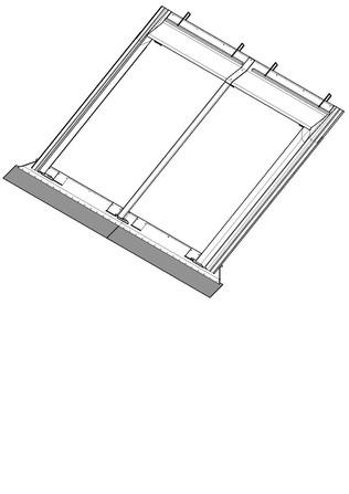 Bulex - Accessoire montage toit incliné V4 - V7