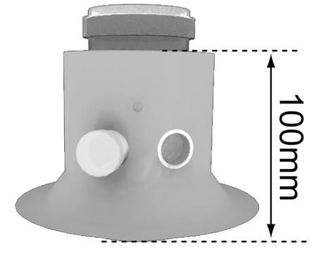 Bulex - rookafvoer - vert. afvoeradaptor