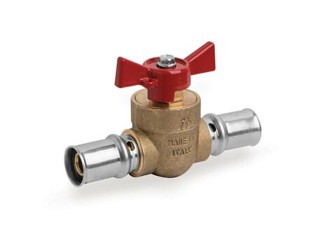 Tubipex Van Marcke - robinet à bille raccordement à sertir rouge