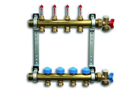 Roth - FHS - HK - verwarmingscollector met afsluitbare debietmeters
