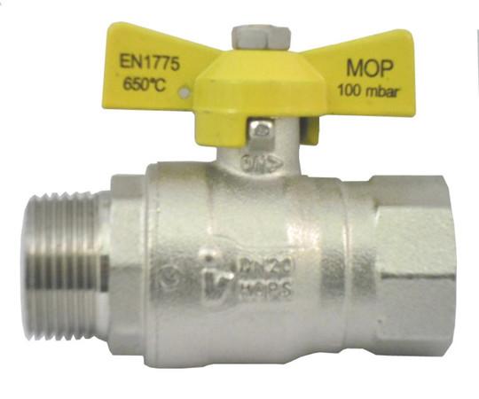 ROBINET GAZ ARGB MF 1/2 LAITON