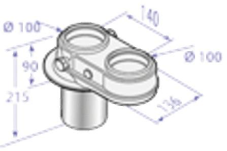 De Dietrich - Adaptateur biflux 2 x diamètre 100 mm