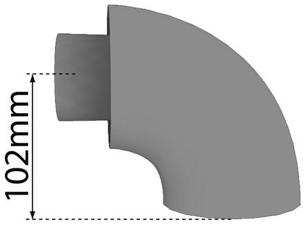 Bulex - fumisterie - coude conc. 80/125 90°