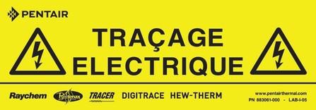 Raychem - étiquette de signalisation électricité fr