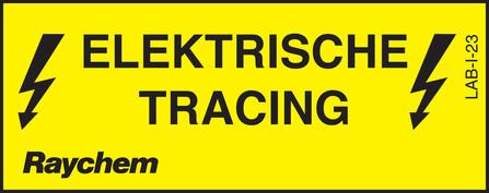 Raychem - waarschuwingslabel electriciteit nl