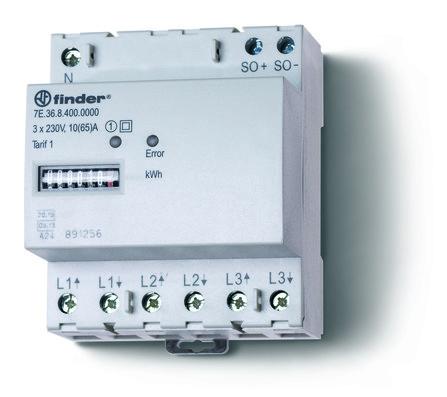ENERGIETELLER 65A 3F+N MID-D