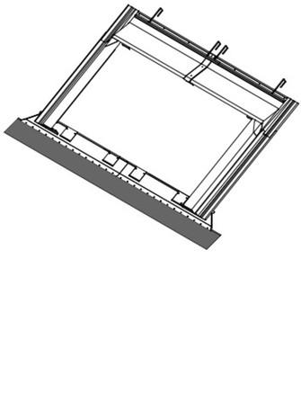 Bulex - Accessoire montage 1 panneau horizontal