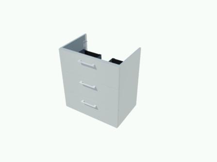Van Marcke Origine - Nubes 50 - sous-meuble 70 cm - 3 tiroirs - 1 découpe siphon central