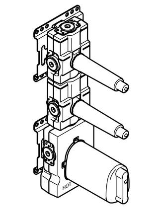 Dornbracht - MEM - module de thermostat xTool + 2 robinets d'arrêt