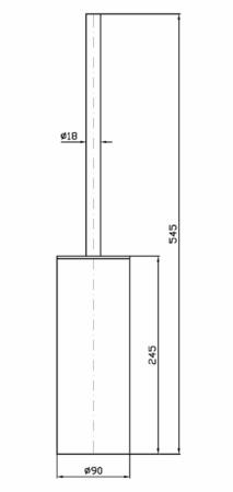 ZUC ZAD555 PORTE-BROSSE WC
