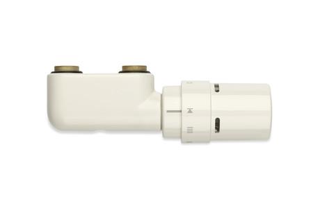 Vasco jeu de robinetterie de radiateurs équerre blanc